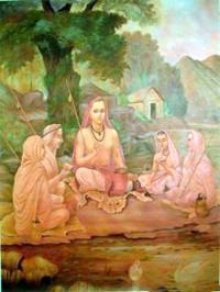 Shankaracharya (788-820 d.C.) e seus discípulos