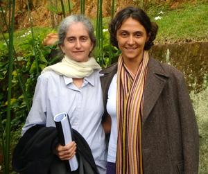 Gloria Arieira e Marie Furlanetti em Teresópolis (RJ) em julho de 2008