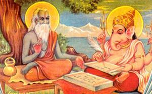 Vyasa ditando para Ganesha