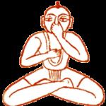 Um yogi praticando pranayama