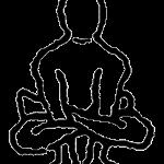 Kukkutasana, a postura do galo, em desenho por John Scott