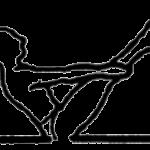Navasana, a postura do barco, em desenho por John Scott