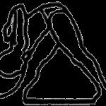Parshvottanasana, em desenho por John Scott