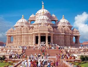 Um templo hindu em Nova Delhi