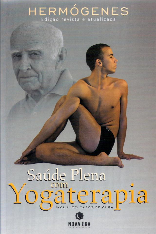 Capa do livro Saúde Plena com Yogaterapia (1992), do Professor Hermógenes (1921-2015)