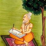 Valmiki a escrever o Ramayana