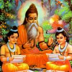 Valmiki, autor do Ramayana, o mais antigo épico indiano