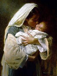 Maria de Nazaré e o menino Jesus