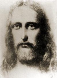 Jesus de Nazaré (4 a.C. - 33 d.C.), o Cristo, em pintura mediúnica feita no início do século XX na Polônia
