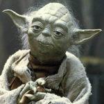Mestre Yoda, personagem fictício no universo de Star Wars, criado por George Lucas