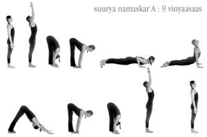 Cathia Karin Heuser fazendo o Surya Namaskar A