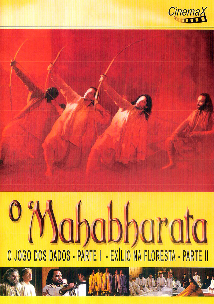 Capa do primeiro DVD do filme O Mahabharata (1989), de Peter Brook