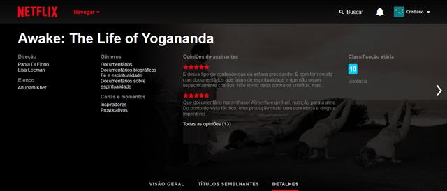 Awake: A Vida de Yogananda (2014), filme documentário disponível na Netflix