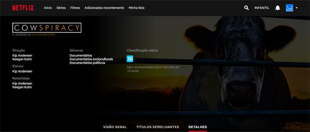 Cowspiracy: O Segredo da Sustentabilidade (2014), filme documentário disponível na Netflix