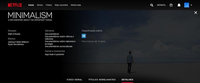 Minimalismo, filme documentário na Netflix
