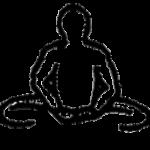 Baddha konasana, a postura do ângulo fechado, em desenho por John Scott